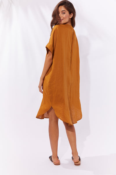 Haven - Majorca Shirt Dress - Caramel