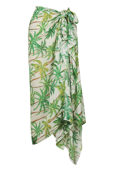 Haven - Paradise Sarong - Scarf - Lime Palm