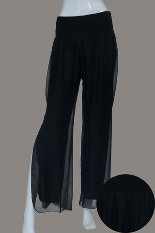 Imagine - Black Silk Gia Pant with Split 10IM2184