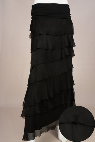 Imagine - Black Flapper Silk Skirt 10IM2272