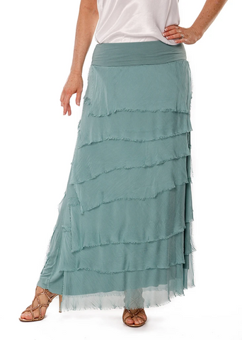 Imagine - Sage Flapper Fifi Silk Skirt 10IM2272