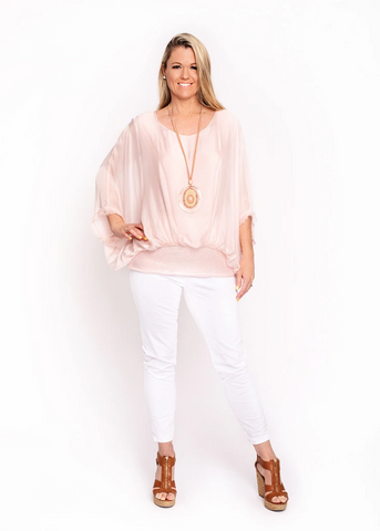 Imagine - Pink Marcella Sequin Silk Top 10IM3014