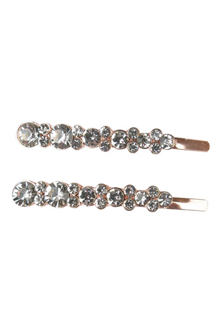 Morgan & Taylor - Crystal Rose Gold Jaelle Hairclip set MC004