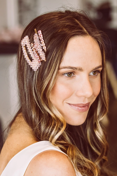 Morgan & Taylor - Pale Pink Jaelle Hairclip set MC004