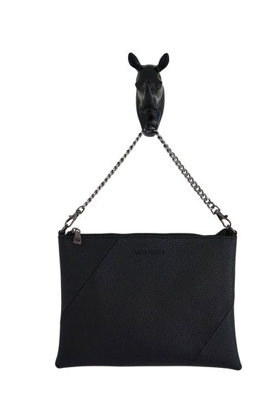 Kesa + Konc - Zalia Plain Clutch Bag - Black or Tan