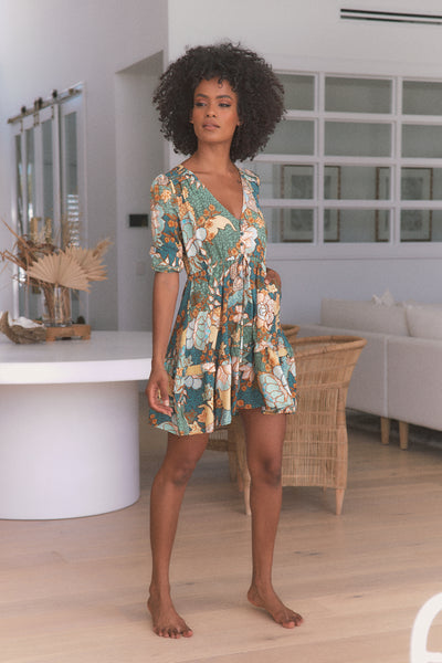 Jaase - Enchanted Forest Print Anika Mini Dress