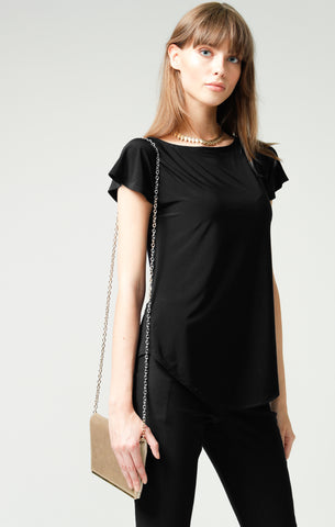 Sacha Drake Analia Reversible Jersey Top - Black