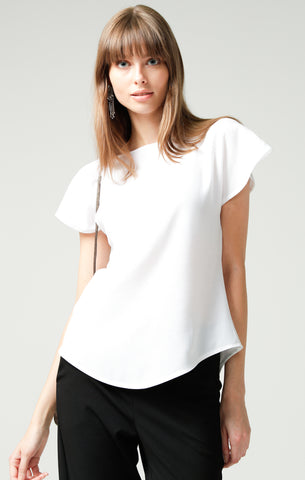 Sacha Drake Analia Reversible Jersey Top - White
