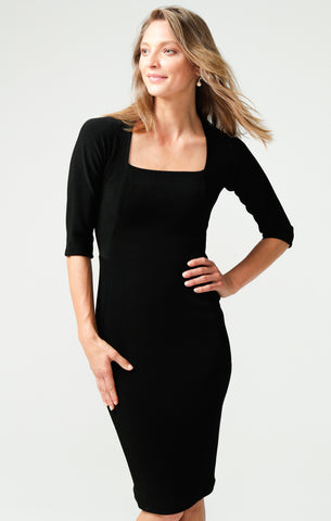Sacha Drake Iris 3/4 Sleeve Dress - Black