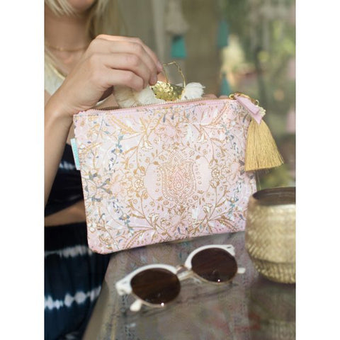 Papaya Art Lotus Garden Pocket Clutch