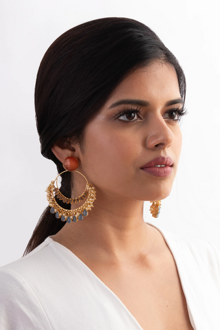Meshca - Mira Earrings - Orange
