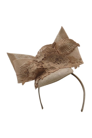Morgan & Taylor - Nude Jules Fascinator FS327