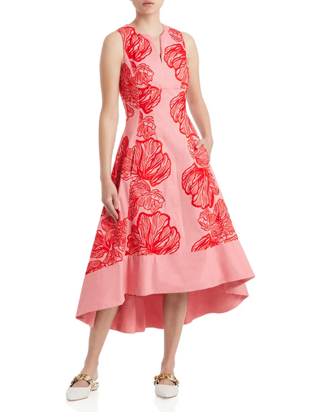 Moss & Spy - Ali A-Line Dress Pink/Red