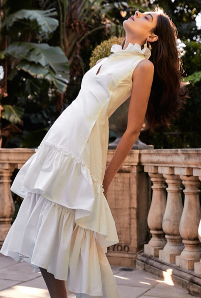 Moss & Spy - Delta Dress White or Wisteria