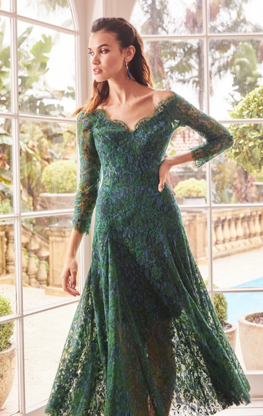 Moss & Spy - Kathleen Dress Emerald Navy