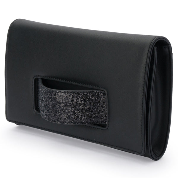 Olga Berg - Black  Daniella Handle Clutch Bag - OB2010