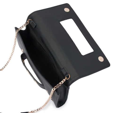 Olga Berg - Daniella Handle Clutch Bag - Black OB2010