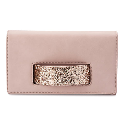 Olga Berg - Daniella Handle Clutch Bag - Blush OB2010
