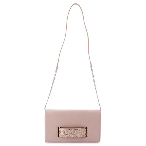 Olga Berg - Blush Daniella Handle Clutch Bag - OB2010