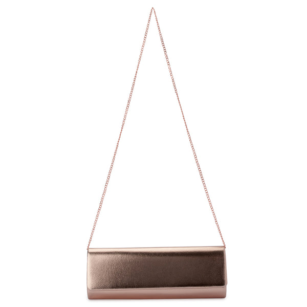 Olga Berg - Rose Gold Harper Slim Metallic Foldover -  OB4650