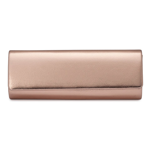 Olga Berg - Harper Slim Metallic Foldover - Rose Gold OB4650