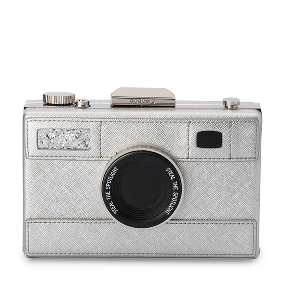 Olga Berg - Silver MADELYN Camera Bag OB4658