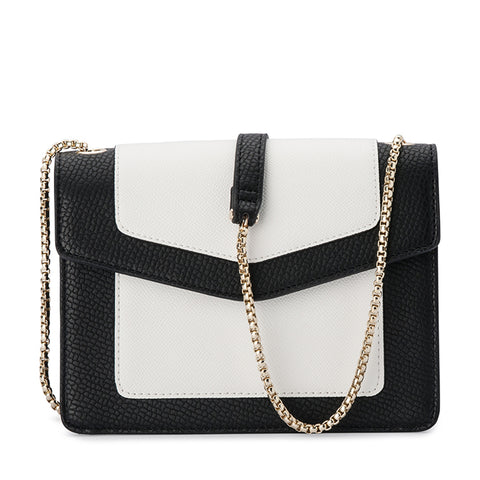 Olga Berg - Black/White MONTANA Pebble Shoulder Bag OB4703