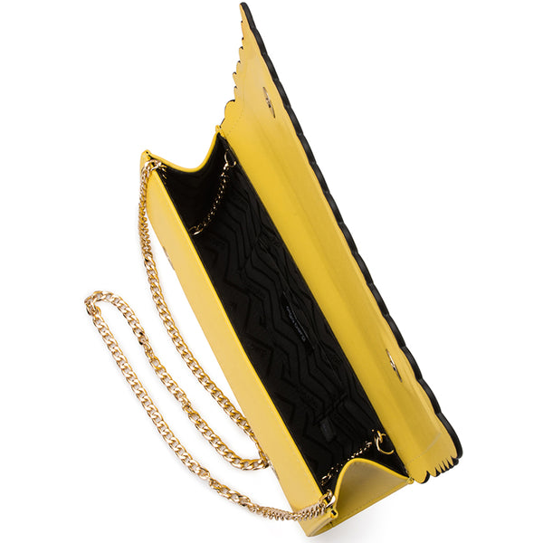 Olga Berg - Yellow KATIE Scalloped Edge Clutch OB4707