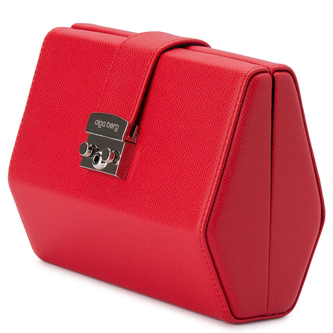 Olga Berg - Red HARRIET Hexagon Clutch OB4742