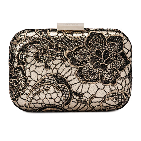 Olga Berg - Gracie Metallic Lace Pod Bag - Gold OB7372