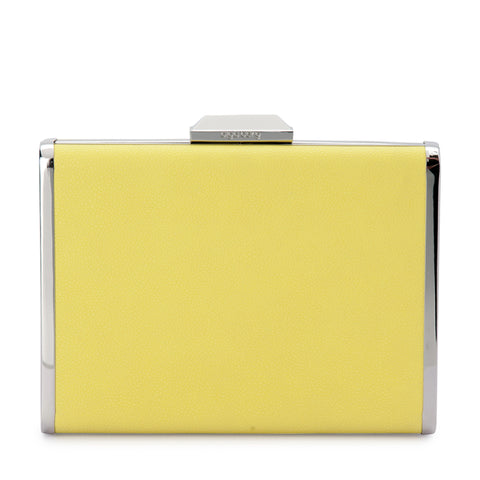 Olga Berg - Yellow Citrus HAZEL Saffiano Clutch Bag OB7417