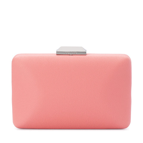 Olga Berg - Coral SONIA Pebbled Texture Clutch Bag OB7246