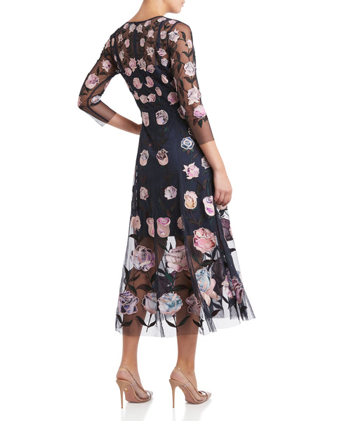 Moss & Spy - Patricia Dress Ink Floral