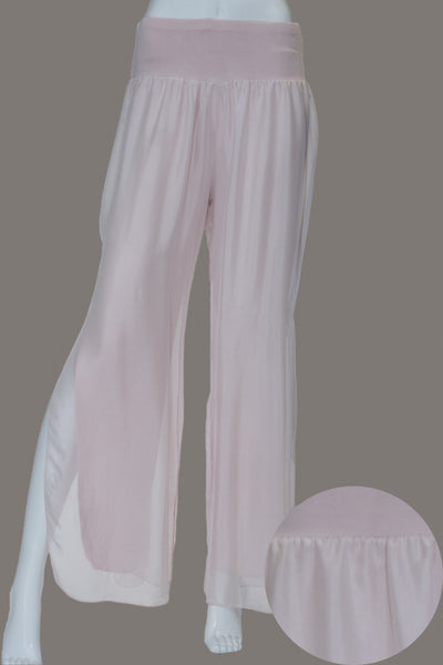 Imagine - Pink Silk Pant with Split 10IM2184