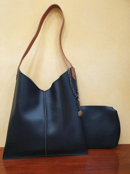 Kesa + Konc - Talin Plain Tote Bag - Black or Tan