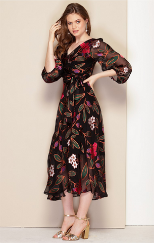 Sacha Drake - Sarah Silk Burnout Wrap Dress - Oriental Floral