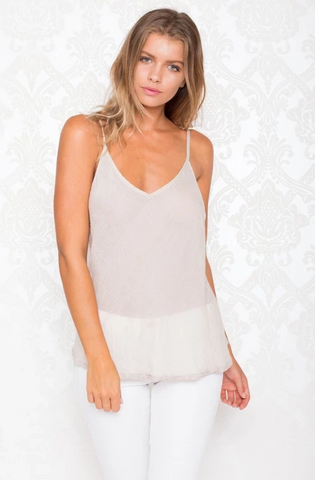 Rubyyaya - Ibiza Cami - White, Ecru or Black