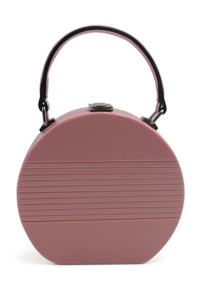 Morgan & Taylor - Pink Electra Acrylic Round Top Handle Bag MB102