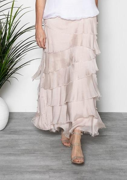 Imagine - Pink Blush Flapper Fifi Silk Skirt 10IM2272
