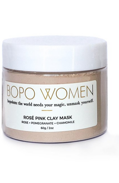 Bopo - Rose Pink Clay Mask & Super Soother mini oil set
