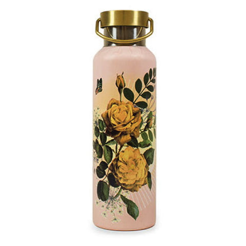 Papaya Art Yellow Roses Wander Water Bottle