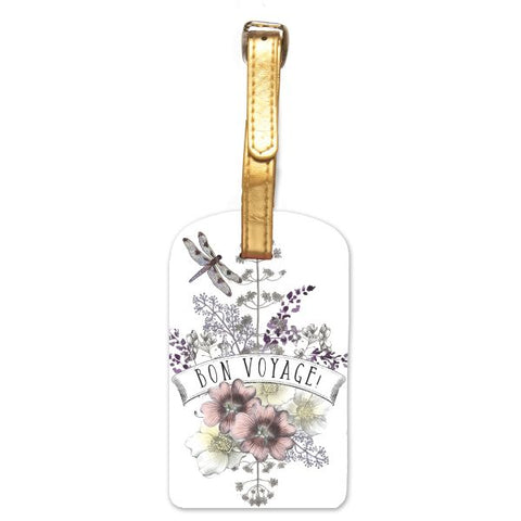 Papaya Art Dragonfly Luggage Tag