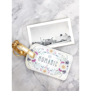 Papaya Art Sunrise Wreath Luggage Tag
