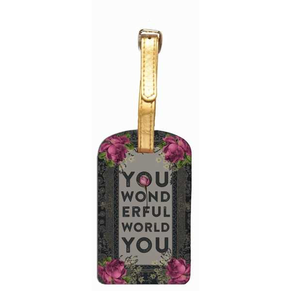 Papaya Art Wonderful World Luggage Tag