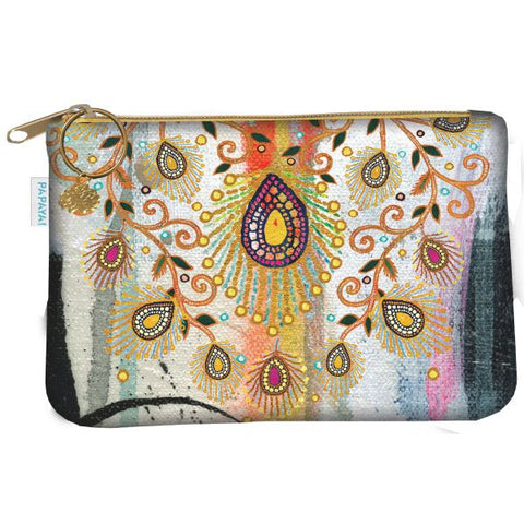 Papaya Art Morrocan Peacock Coin Purse