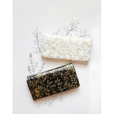 Papaya Art Black Foiled Flower Wallet