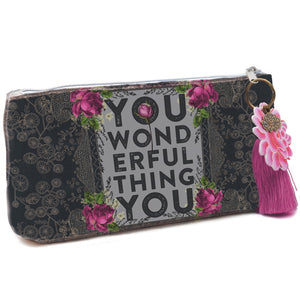 Papaya Art Wonderful Thing Small Tassel Pouch