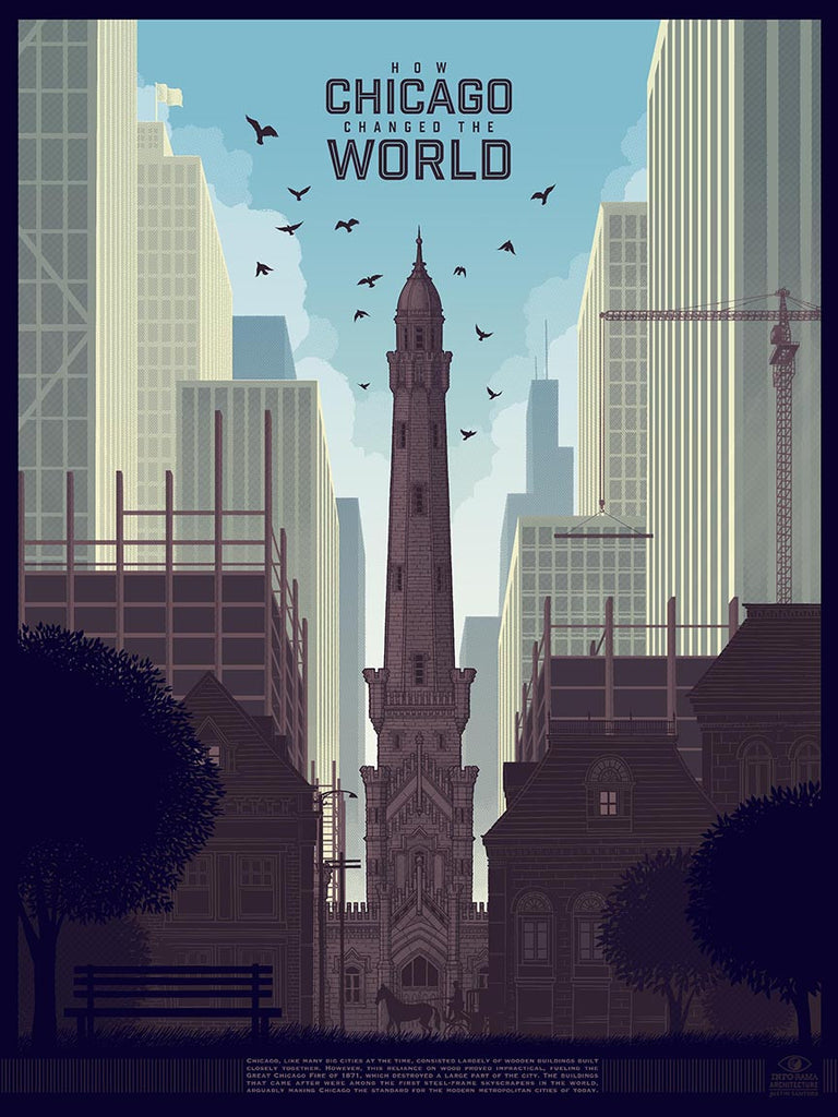 """How Chicago Changed The World"" Infographic poster by Justin Santora"