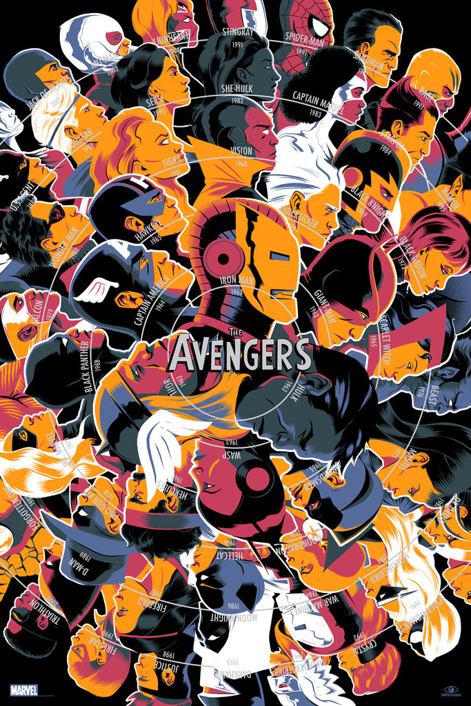 The Avengers Infographic Poster by Matt Taylor