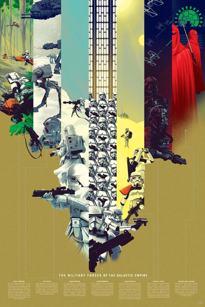 The Military Forces Of The Galactic Empire Infographic Poster by Kevin Tong (Variant)